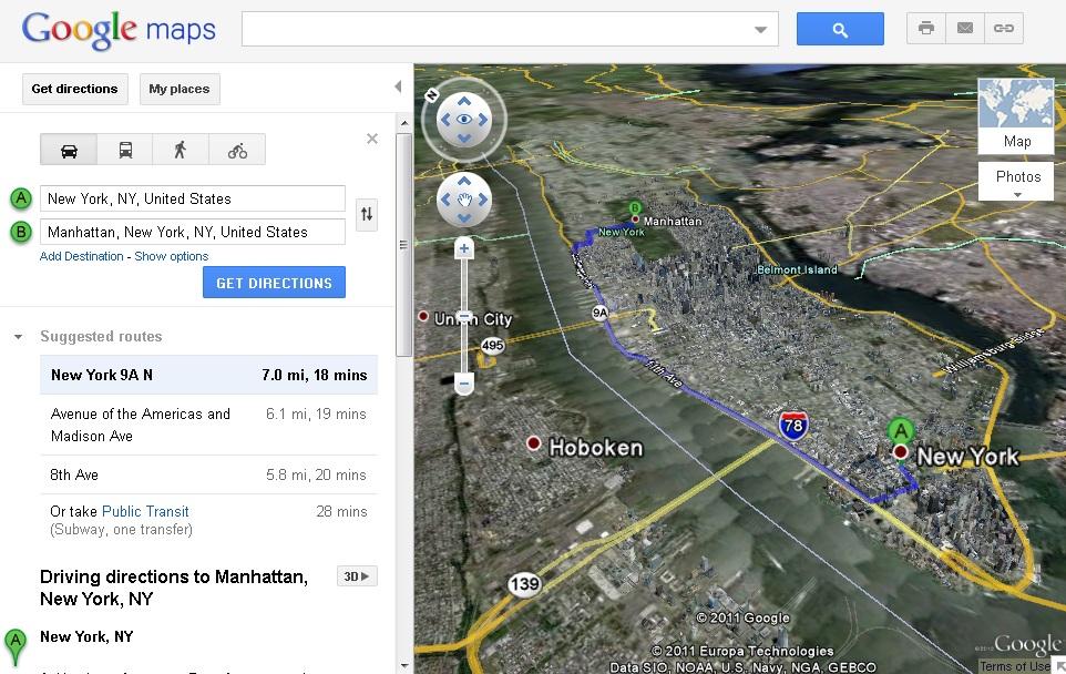 Просмотр маршрута в браузере через Google Earth