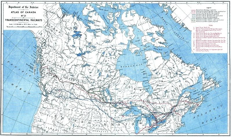 Трансконтинетальные железные дороги 1906 года