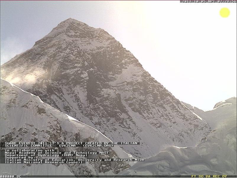 вид с веб-камеры на Эверест