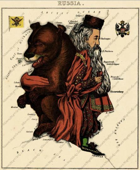 Россия 1868 год (карикатура)