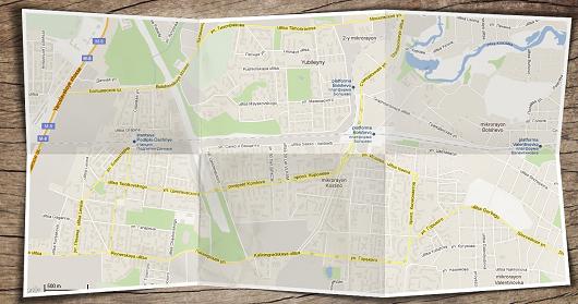 Бумажная карта Гугл