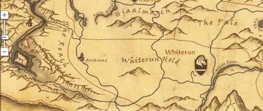 карта Skyrim